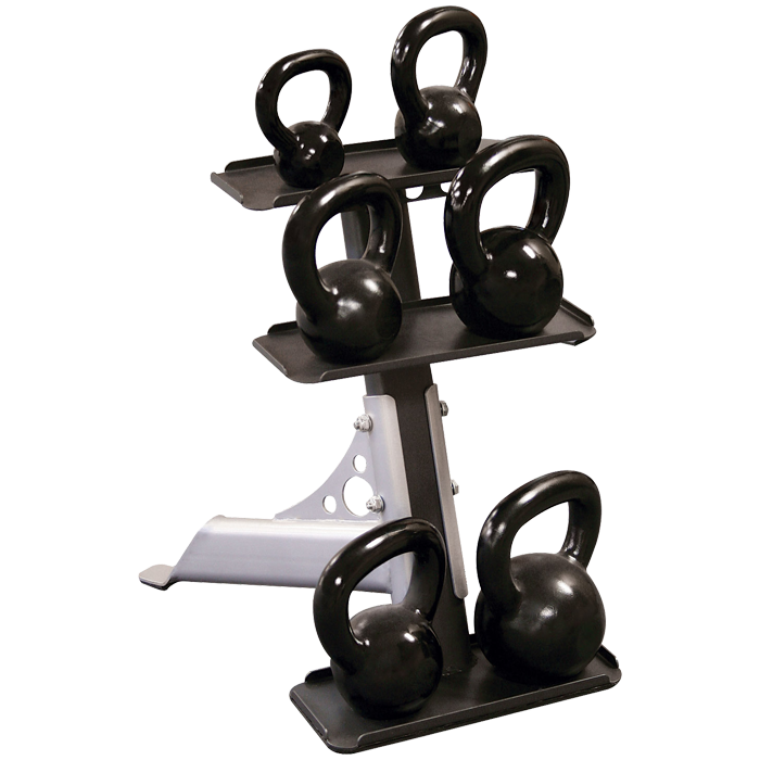Body-Solid GDKR50 - 3 Pair Kettlebell Rack
