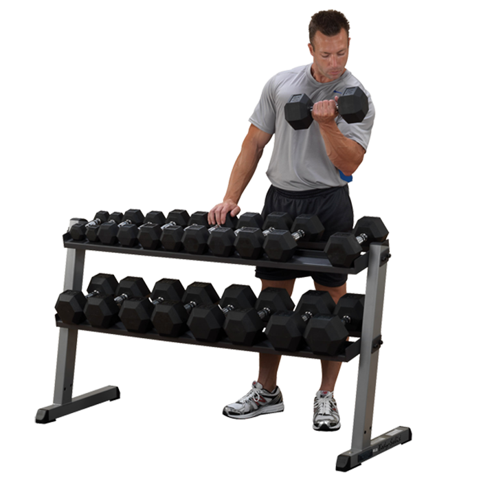 Body-Solid Pro Dumbbell Rack - Two Tier