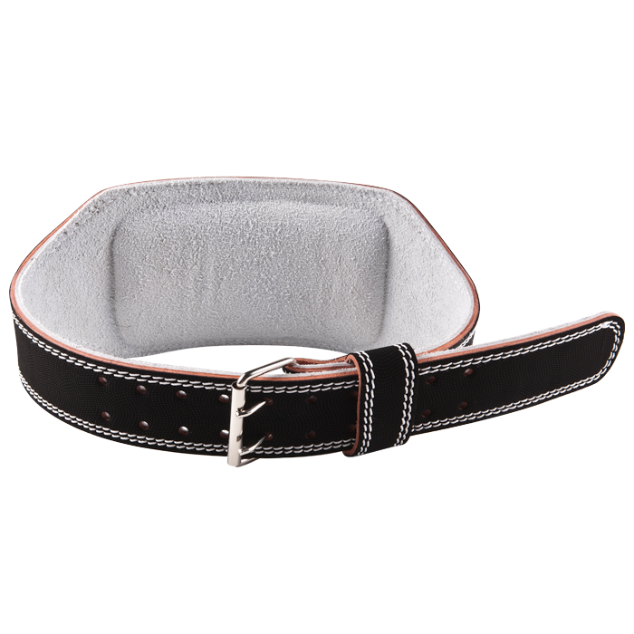 GoFit Padded Etched Leather Weightlifting Belt - Large