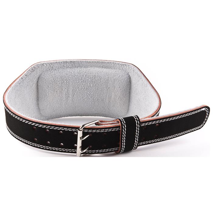 GoFit Padded Etched Leather Weightlifting Belt - Medium