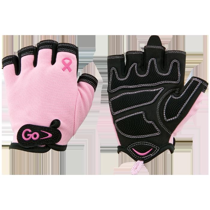 GoFit Women's Breast Cancer Awareness X-Trainer Gloves - Medium