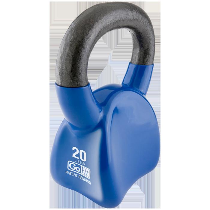 GoFit 20 lbs Countor Kettlebell