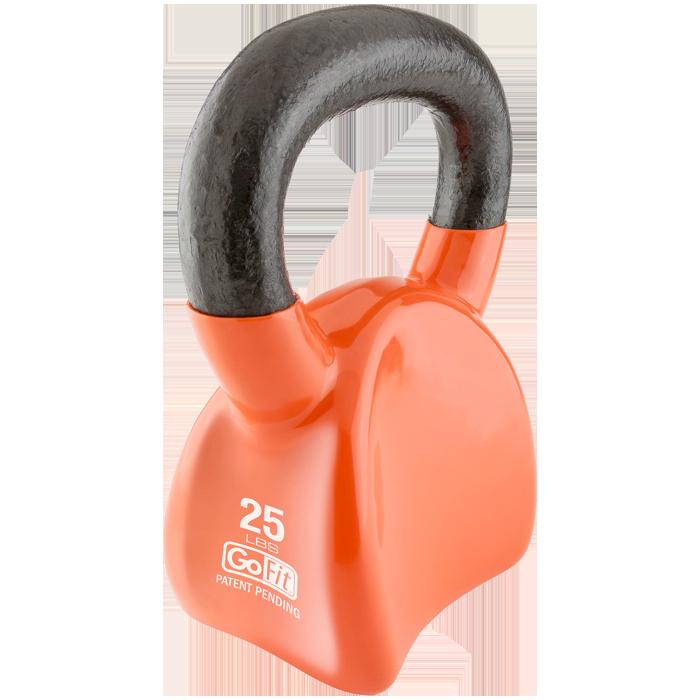 GoFit 25 lbs Countor Kettlebell