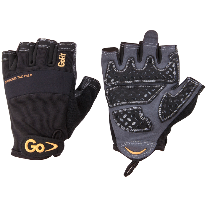 GoFit Diamond-Tac Weightlifting Gloves