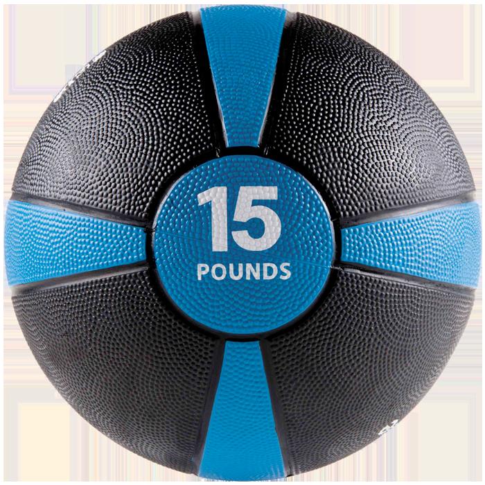 GoFit 15 lbs Rubber Medicine Ball