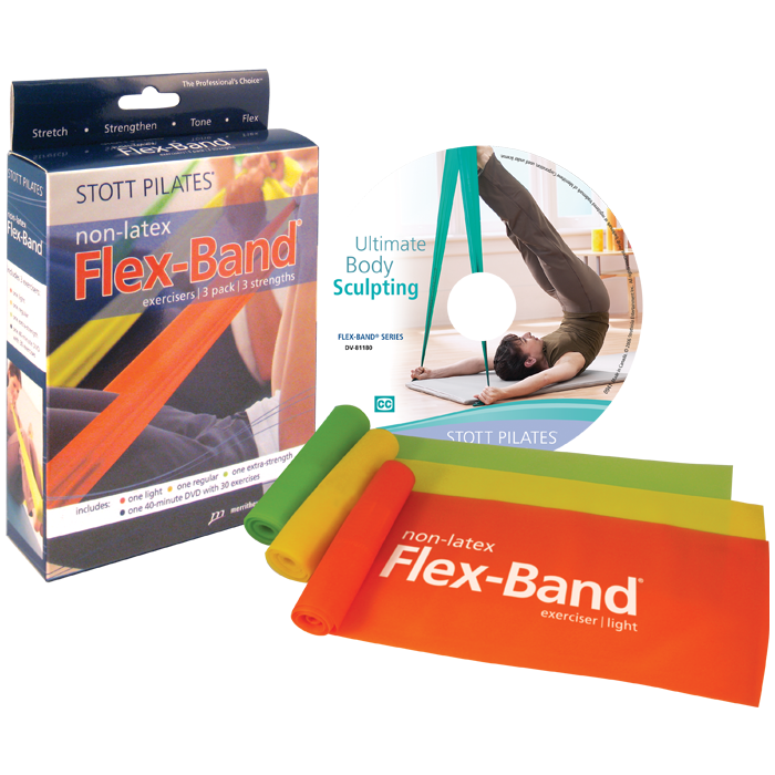 Stott Pilates Flex-Band Non-Latex Three-Pack with DVD