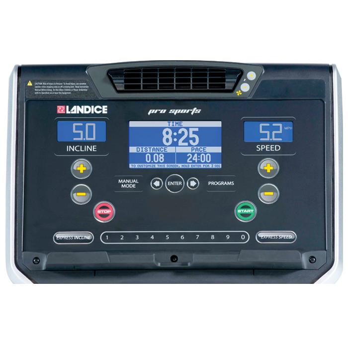 NEW Landice L7 Treadmill with Pro Sports Control Panel (Orthopedic Belt)