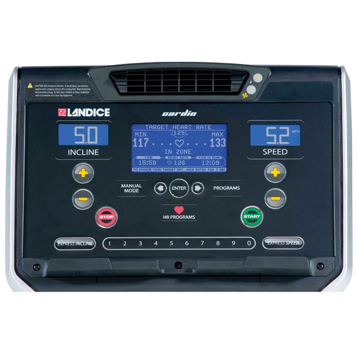 Landice L7 Treadmill with Cardio Control Panel