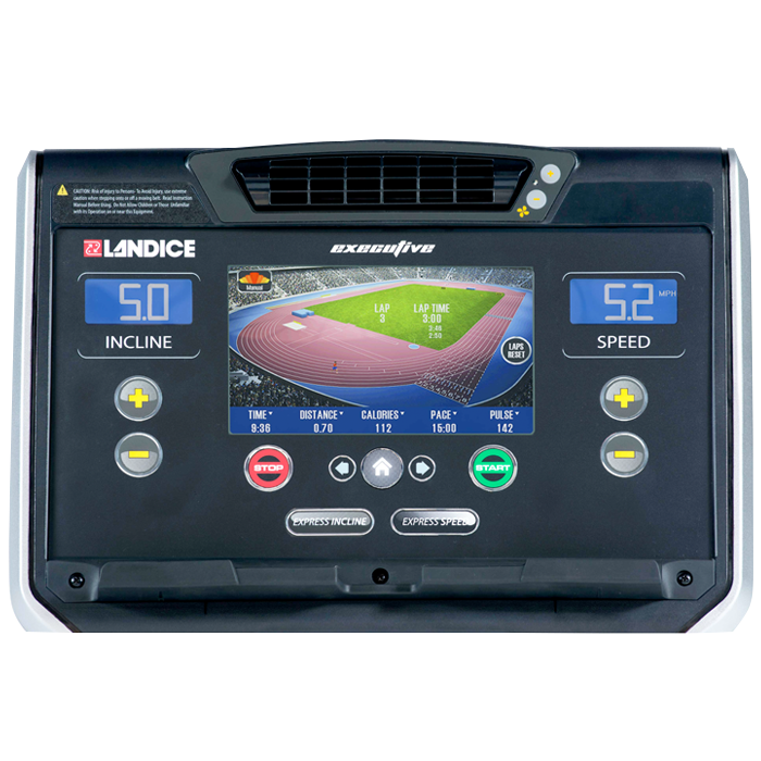 Landice L8 Treadmill with Executive Control Panel