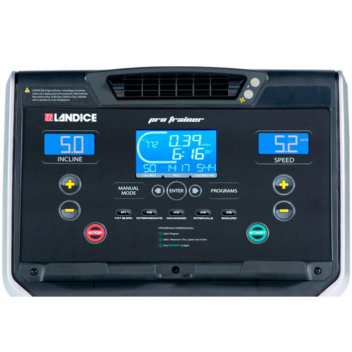 Landice L8 Treadmill with Pro Trainer Control Panel - Floor Model