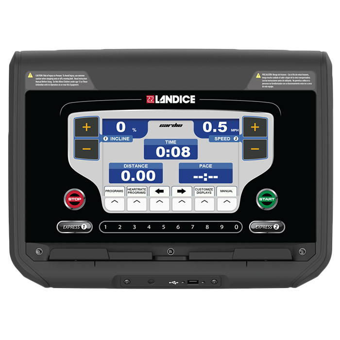 Landice L8 Treadmill with Cardio Control Panel