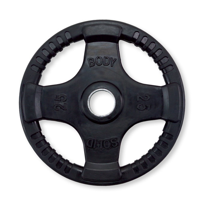 Body-Solid Rubber Grip Olympic Plate -  25 lbs.