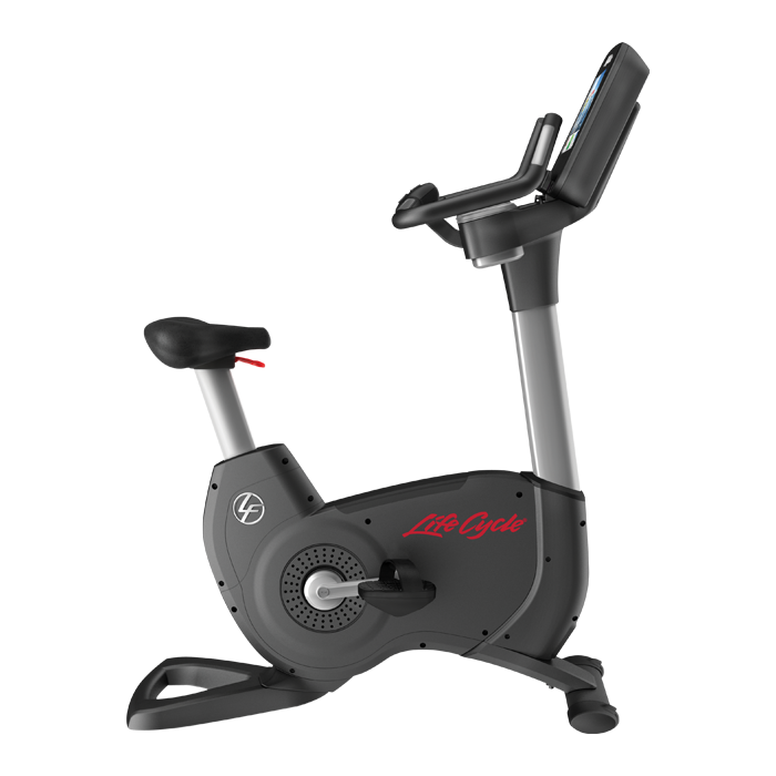 Life Fitness Platinum Club Series Upright Cycle with 16 inch Discover SE Tablet Console