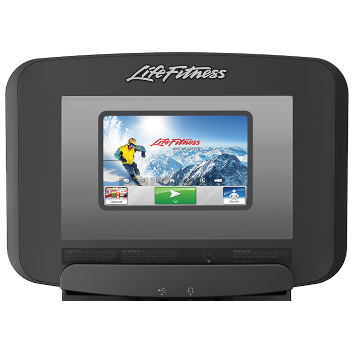 Life Fitness Platinum Club Series Upright Cycle with 10 inch Discover SI Tablet Console