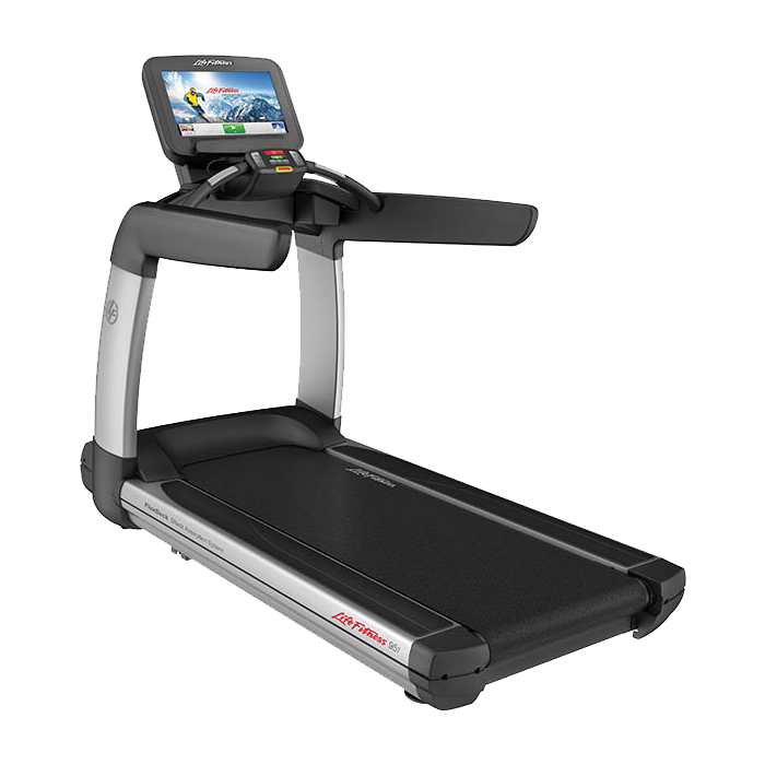 NEW Life Fitness Platinum Club Series Treadmill with 19 in Discover SE Tablet Console