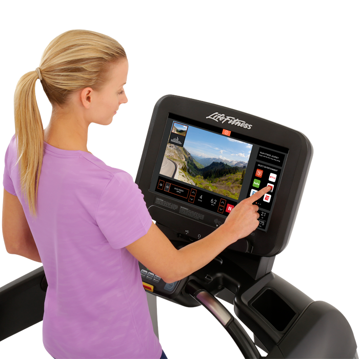 Life Fitness Platinum Club Series Treadmill with 19 inch Discover SE3 Tablet Console