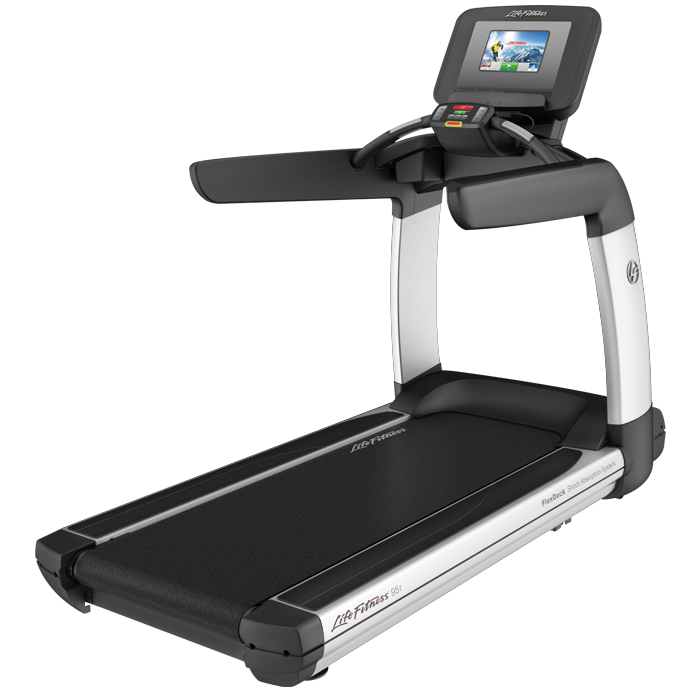 Life Fitness Platinum Club Series Treadmill with 10 in Discover SI Tablet Console