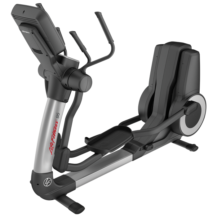 Life Fitness Platinum Club Series Elliptical with 16 inch Discover SE Tablet Console