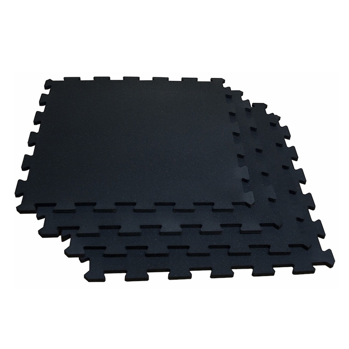 Body-Solid Interlocking Rubber Flooring - Solid Black