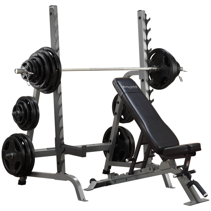 Body-Solid Pro Clubline Bench Rack Combo