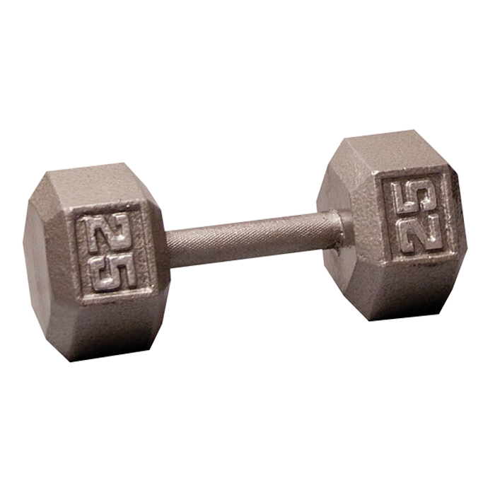 Body-Solid Cast Hex Dumbbell - 25 Lb.