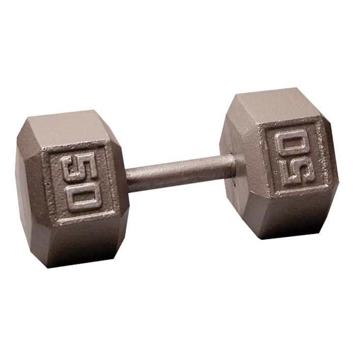 Body-Solid Cast Hex Dumbbell - 50 Lb.