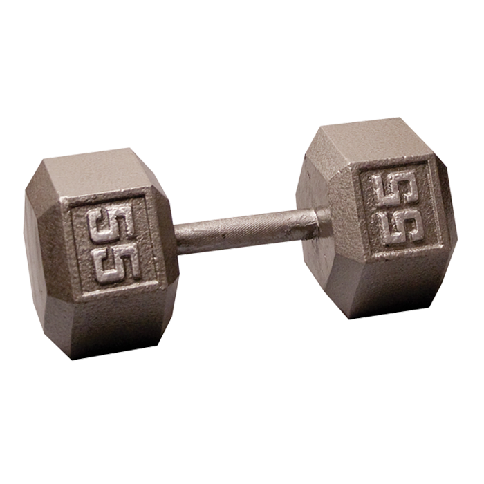 Body-Solid Cast Hex Dumbbell - 55 Lb.