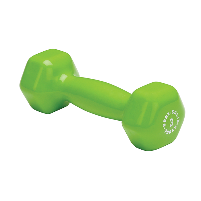 Body-Solid 3 lb. Vinyl Dumbbells