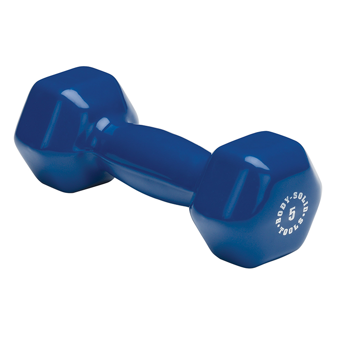 Body-Solid 5 lb. Vinyl Dumbbells