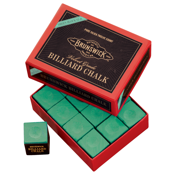 Brunswick Billiard Chalk - 144 piece, Green