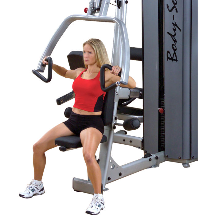 Body-Solid Pro Dual DGYM Vertical Press and Lat Component