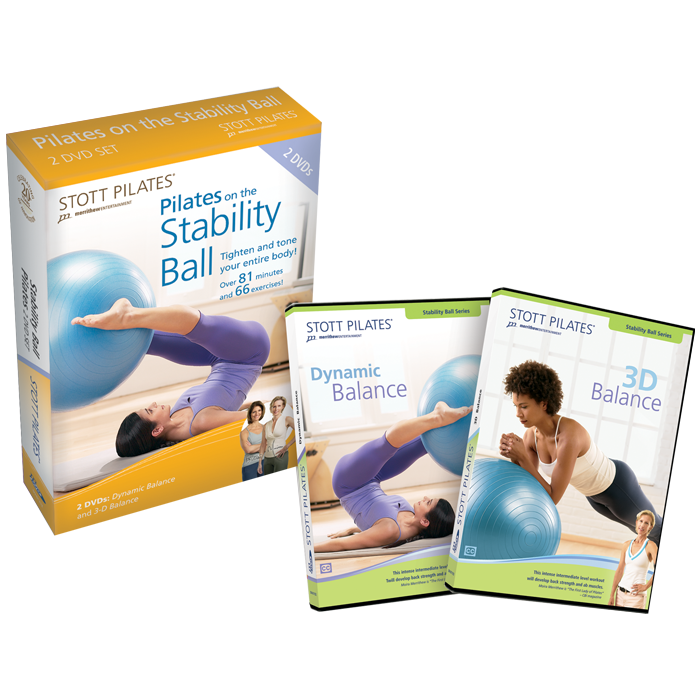 Stott Pilates Pilates on the Stability Ball DVD Two-Pack