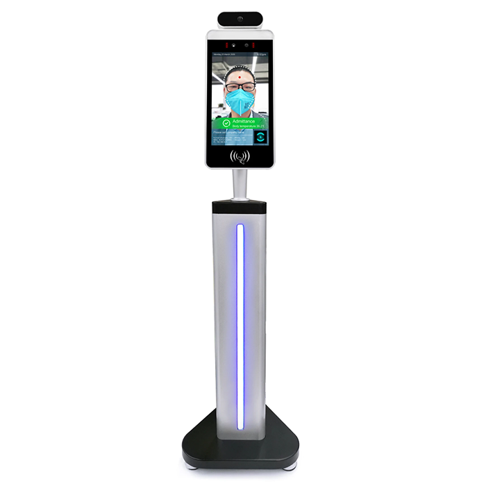 Temp Check In Free Standing Post Kiosk