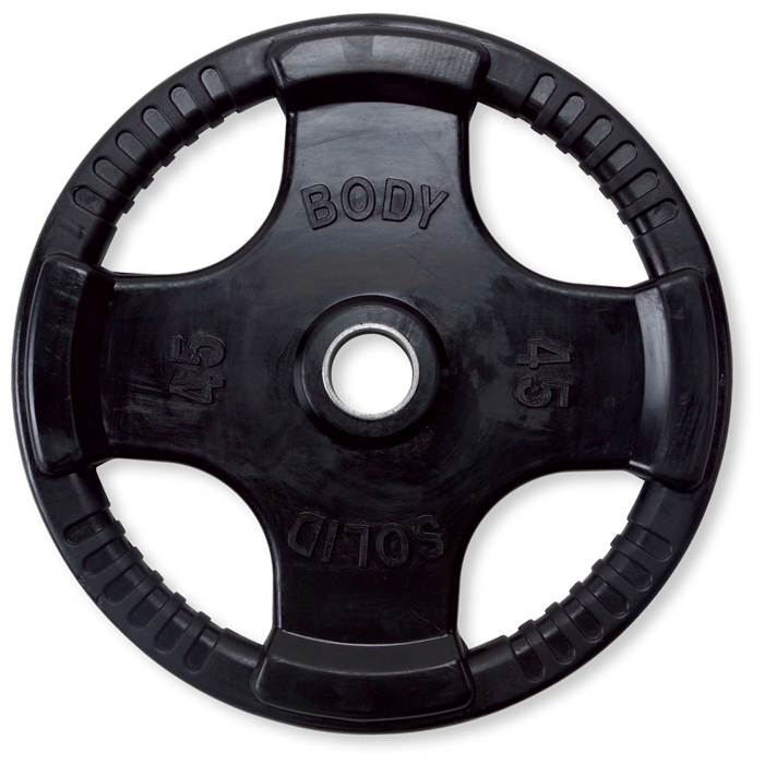 Body-Solid Rubber Grip Olympic Plate -  45 lbs.