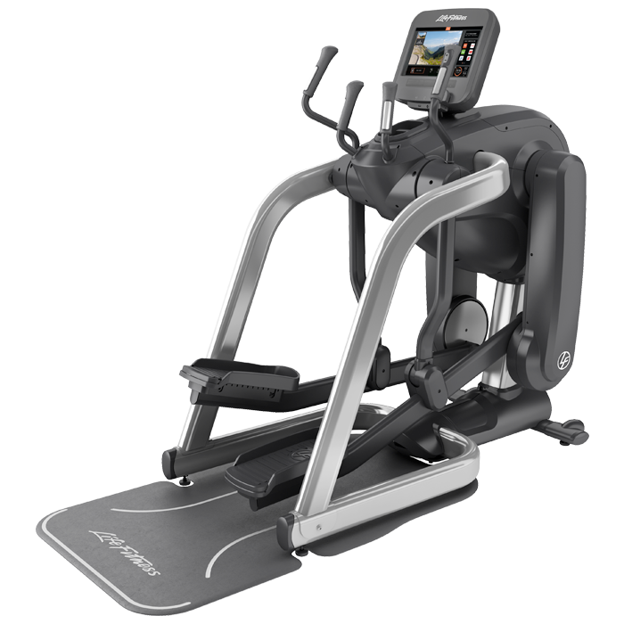 Life Fitness Platinum Club Series FlexStrider Variable-Stride Trainer with 16 inch Discover SE3 Console