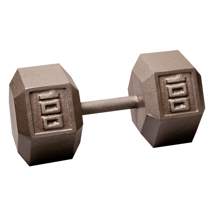Body-Solid Cast Hex Dumbbell - 100 Lb.