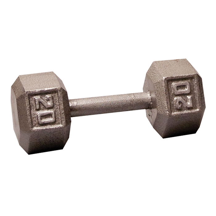 Body-Solid Cast Hex Dumbbell - 20 Lb.