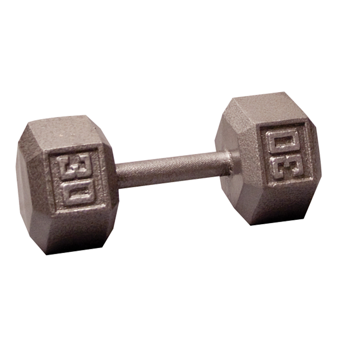 Body-Solid Cast Hex Dumbbell - 30 Lb.