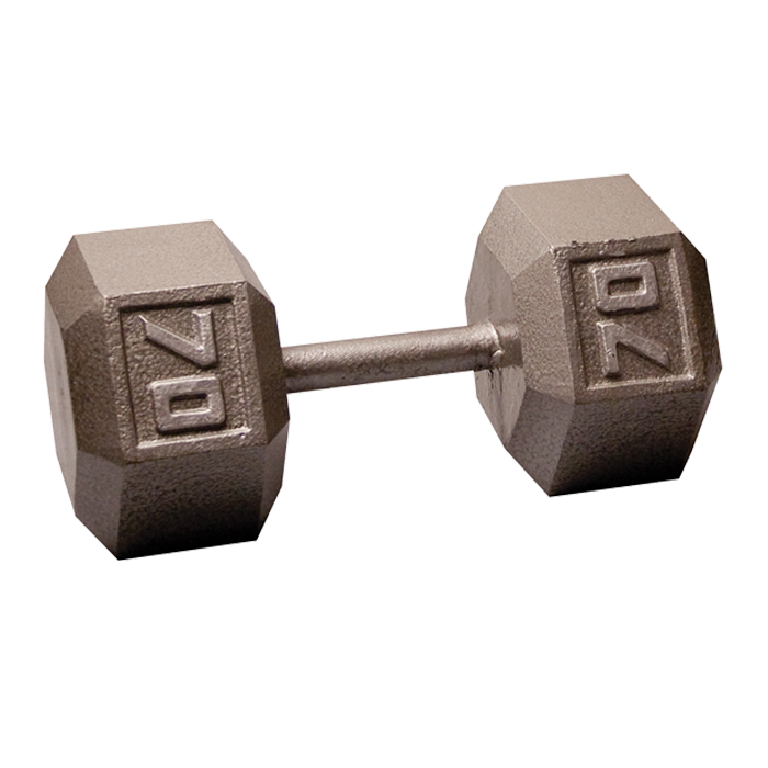 Body-Solid Cast Hex Dumbbell - 70 Lb