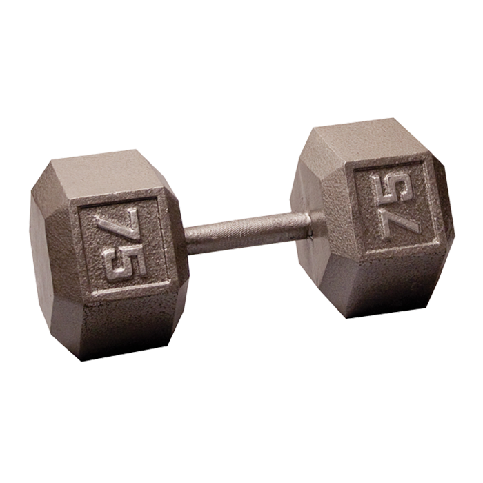 Body-Solid Cast Hex Dumbbell - 75 Lb.
