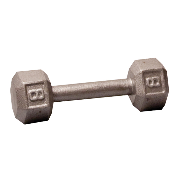 Body-Solid Cast Hex Dumbbell - 8 Lb.