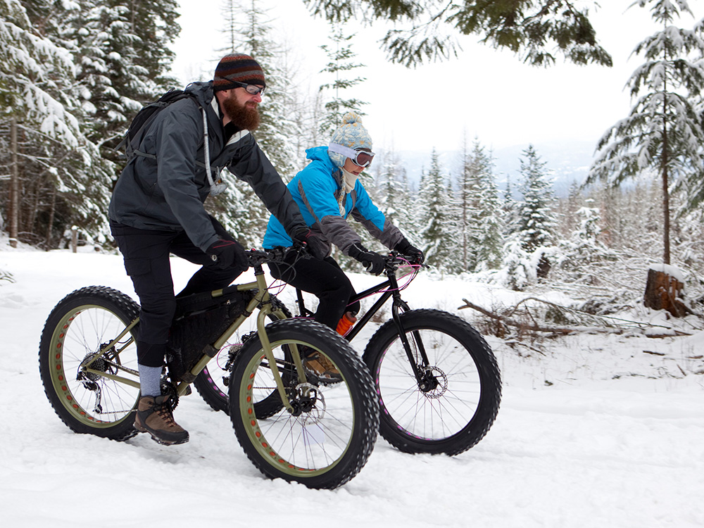 biking in winter weather