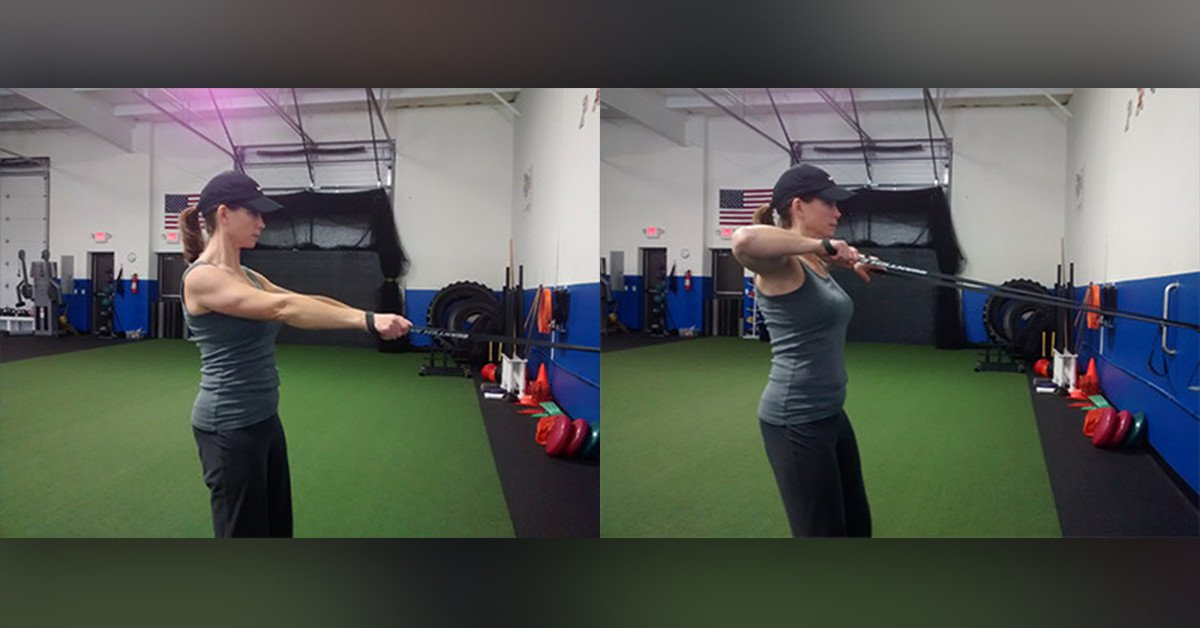 Face Pull Pull and Release with a resistance band