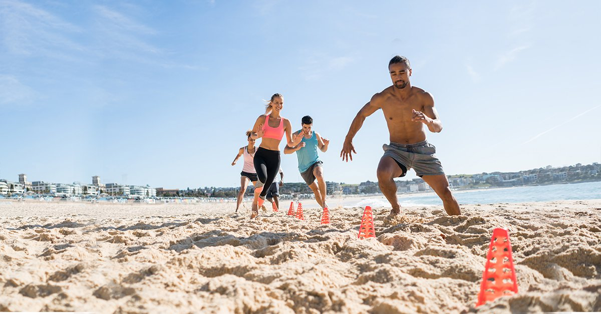 Beach Workout Fitness Circuit of Sand Exercises