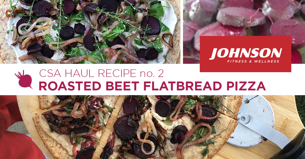 CSA Haul Recipe Roasted Beet Flatbread Pizza