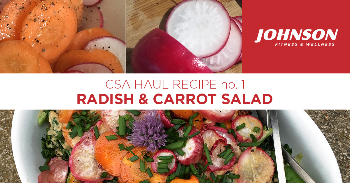 CSA Seasonal Radish and Carrot Salad