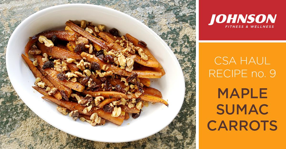 csa haul recipe maple sumac carrots
