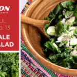 csa haul recipe kale salad cucumber
