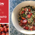csa haul recipe tomato orzo salad