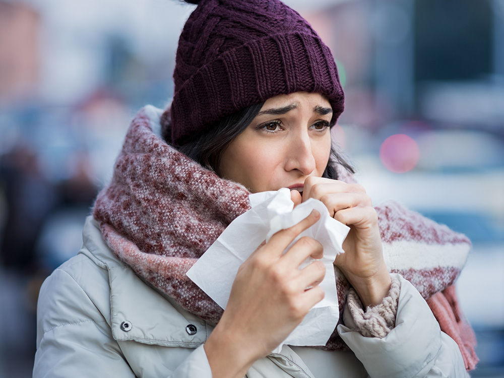 The cold and flu season is here. We will address the question of whether or not it's okay to be working out while sick.